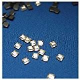 80 Strass carrés Cristal Hotfix Forme 4x4 mm à repasser en Verre