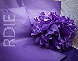 96 feuilles de papier de soie Violet, 50x75cm, 18 grs