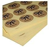 """ACMEDE - 100 Feuilles """"Handmade"""" Autocollant Etiquette Motif Noeud Papillon Kraft Décoration Pour Fabrication de Carte Emballage Cadeau"""