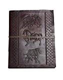 Âge d'or* Album photo XL Vintage Cuir Pages noires Fait Main Inde éléphant Cheval Chameau