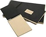 Album kraft spiralé 21x29,7 A4 60 feuilles 90 grammes brun