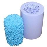 Allforhome rose moules en silicone de bougie rose à la main de forme moules bougie Artisanat Moules bricolage (finition taille ...
