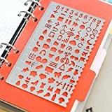Amupper Vie Métal Planner Pochoirs avec beaucoup de motifs graphique