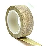 aohong 10m 15mm Paillettes ruban adhésif Washi Décoratif Papier Collant Craft DIY D š Š cor doré