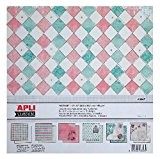 APLI Bloc de 6 feuilles de papiers scrapbooking recto/verso Vintage 30,5x30,5 cm