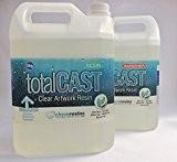 Art en résine Transparent Kit Résine totalcast pour peintures en résine-en résine et durcisseur inclus et sans mitigeur. 10 kg ...