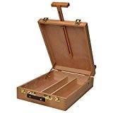 Artina Mallette Chevalet professionnel de table « Nancy » - En bois de Hêtre - rangement pratique - Inclinaison réglable