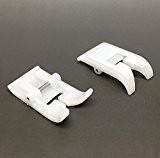 Austin Pied de biche en téflon à clipser compatible avec la plupart des machines à coudre Singer/Brother/Janome/Toyota