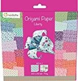 AVENUE MANDARINE Pochette de 60 feuilles de papier 70g Origami 20x20 cm Liberty