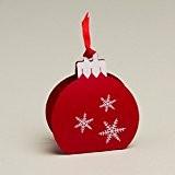 Ballotins à dragées - boites à chocolat Noël ORIGINALE CLASSE ELEGANTE Forme boule de Noël Vitamine ou Nacré avec impression ...