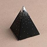 Ballotins à dragées - boites à chocolat Noël ORIGINALE CLASSE ELEGANTE Forme mini Pyramide Noir or ou argent au choix ...
