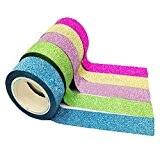 Bandes Ruban adhésives, Kolylong Diy Deco Chambre Tape 5x Washi Papier Collant Masking DéCoratif Scrapbooking Accessoires