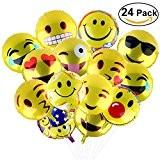 BESTOMZ Ballon de baudruche Ballon mylar 18 pouces 24pcs, Décor pour Mariage / Fête / Anniversaire
