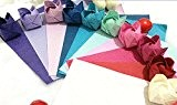Bijoux 200feuilles de papier origami 15x 15cm en 10couleurs différentes Papier papier crépon main Rub Rose Origami