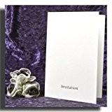 """Blanc Martelé Texture imprimables Invitations de mariage Feuille d'argent en relief """"Invitation"""" (Enveloppes et inserts à imprimé Inc) x Lot ..."""