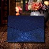 Bleu marine A6Invitations de mariage Shimmer Invitation Pochettes Inc Enveloppes 110mm x 150mm 300g/m²