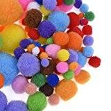 Blulu Couleurs Assorties Craft Pompons pour Artisanat Fabrication et Loisirs Fournitures, 200 Pièces