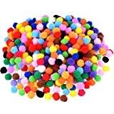 Blulu Craft Pompons pour Artisanat Fabrication et Loisirs Fournitures, 500 Pièces 0.5 Pouce, Couleurs Assorties