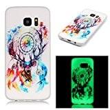 BONROY® Coque pour Samsung Galaxy S7 Edge, KSHOP Etui Housse de Protection Nuit Luminous Glow Series Transparente Silicone Case Cover ...