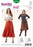 Burda 6714 Patron de couture facile Jupe à pans Grandes tailles avec guide Minerva gratuit