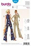 Burda femme 6891 Patron de couture facile de la marque Vintage Style tunique & Tops Pantalon évasé