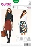 Burda femme Easy Patron de couture de jupes 6836 une ligne avec détail plissé