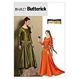 Butterick Patron de couture pour femmes 4827 historiques Costume robe médiévale & ceinture