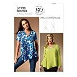Butterick Patterns 5999 Patron de couture Haut pour femme Grandes tailles XXL/1X/2X/3X/4X/5X/6X