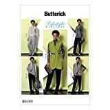 Butterick Patterns Gilet pour femme Tailles, haut, tunique et pantalon pour femme, multicolore, grand-2x L