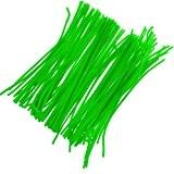 Câblé Peluche Cure-pipes Tige De Chenille Artisanat D'enfant Accs - Vert fluorescent