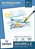 Canson Bloc 200005790 Papier aquarelle Blanc
