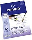 Canson Imagine Papier à dessin A4 21 x 29,7 cm 50 feuilles Blanc pur
