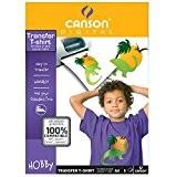Canson Papier Transfert pour T-shirt Noir 5 Feuilles A4