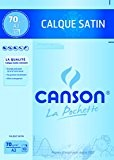 Canson Pochette 200017151 Papier calque A3 29,7 x 42 cm 10 feuilles Translucide