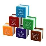 CCINEE 6X School Teachers English Toy Stamp Self Inking Praise Reward Motivation Sticker Stamper by CCINEE