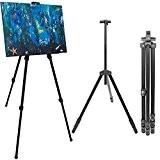 Chevalet en aluminium pour peintres de eyepower | Support trépied pour tableaux et toiles réglable en hauteur de env 57 ...