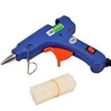 CkeyiN® Mini Pistolet à colle chaude avec 25 pcs Bâtons de colle haute temperature pour petits bateaux Projets & Package ...