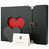 Cobee Album Photos Créative en Coeur Ciselée Creux 30 Cartes pour Amour Photographie Souvenir Cadeau d'Anniversaire