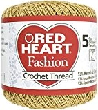 Coeur rouge Fashion Crochet fil-or/Gold