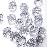 Cristaux Décoration en forme de Diamant en Acrylique pour Décoration de fête/Costume de scène/Fond de vase/Décoration de mariage Lot de ...