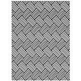 Darice 1218-66 Modèle Motif Panier Tressé Classeur de Gaufrage Plastique Transparent 10,8 x 14,6 x 0,3 cm
