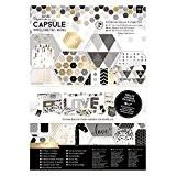 Docrafts Ultimate découpée et papier, papier, mono, A4, lot de 48