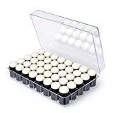 Elera Doigt Eponge Daubers Craft avec 40 Petits carrés et 40 Eponges dans une Boîte pour la Fabrication de Carte ...