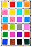 Elera Tampons Encreurs Coussins Encreurs Lavables Artisanats avec 24 Couleurs et 24 Petite Boîte Indépendante pour la Fabrication de Carte