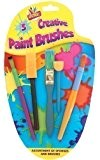 Ensembles Peinture Enfant 5 x Creatif Éponge Peinture Colle Brosse