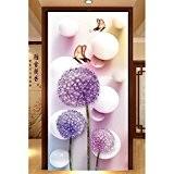 EXIU DIY 5D Pissenlit Papillon Diamant Autocollant point de croix Peinture Maison Mur Decor