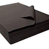 Feutrine précoupée acrylique, noir, env. 22 x 30 cm - 25 pièces