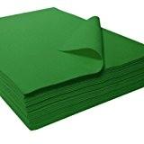 Feutrine précoupée acrylique, vert, env. 22 x 30 cm - 25 pièces