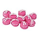 Fimo Lot 10pcs Macaron Noeud Bijoux DIY Perle Charms Collection Peach