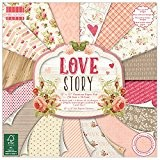 """First Edition Pad Papier 12""""x12"""" Love Story"""